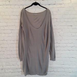 Zadig & Voltaire gray sweater dress size Medium
